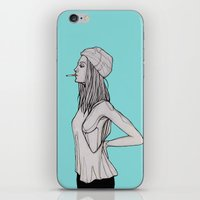 tank girl iPhone & iPod Skins featuring Tank by fossilized
