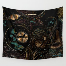 Circles and Jewels... collage-abstract Wall Tapestry