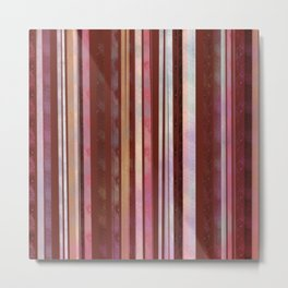 Plum Stripes  Metal Print