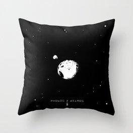 PHOBOS & DEIMOS Throw Pillow