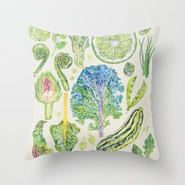 Harvest of Green - Neutral Throw Pillow