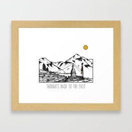 Thoughts Back To The East - Annapurnas, Nepal Framed Art Print
