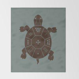 Lo Shu Turtle Throw Blanket