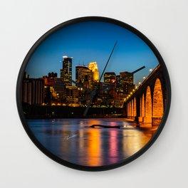 Stone Arch Bridge Illuminated Wall Clock