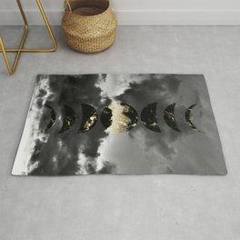 Mystical Moon Phases #1 #gold #black #decor #art #society6 Rug
