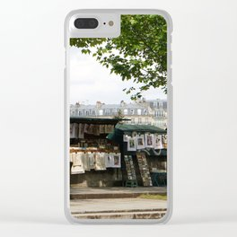 Paris Books Vendors b Clear iPhone Case