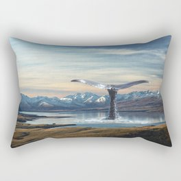 Big Fish In A Little Pond-Whale in New Zealand Lake Rectangular Pillow