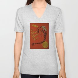 La Chica con el Craneo en el Pelo: The Girl With a Skull In Her Hair Unisex V-Neck