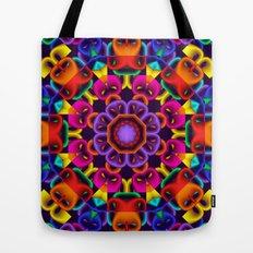 Cool Colourful Kaleidoscope, fractal art Tote Bag