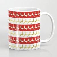 reindeer Mugs featuring Reindeer by Laura Maria Designs