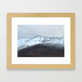 Off in the crouching mountains. Scotland Framed Art Print