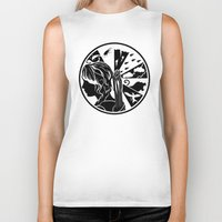 katniss Biker Tanks featuring Tik Tok Katniss by sugarpoultry