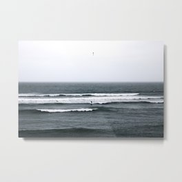 Surf the Pacific Ocean in Peru Metal Print