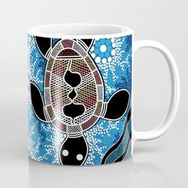 Aboriginal Art - Sea Turtles Coffee Mug