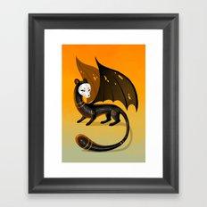 Black Stoat Framed Art Print