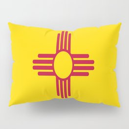 flag new mexico-usa,america,sun,Zia Sun symbol,New Mexican,Albuquerque,Las Cruces,santa fe,roswell Pillow Sham