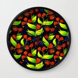 A Floral Waltz Wall Clock
