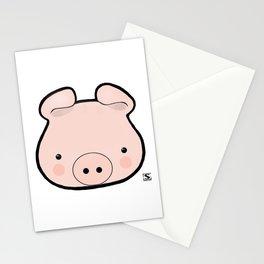 Piggy Kawaii Stationery Cards