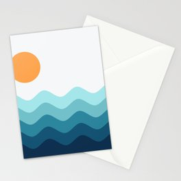 Abstract Landscape 14 Stationery Cards