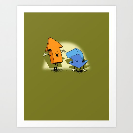 the up and down show! Art Print