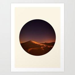 Desert Sunset & Stars In The Sky Art Print