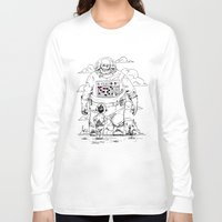 dad Long Sleeve T-shirts featuring Space Dad by Michael Byers