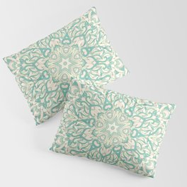 Green Pastel Unique mandala Pillow Sham