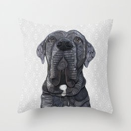 Chief the Mastiff Throw Pillow
