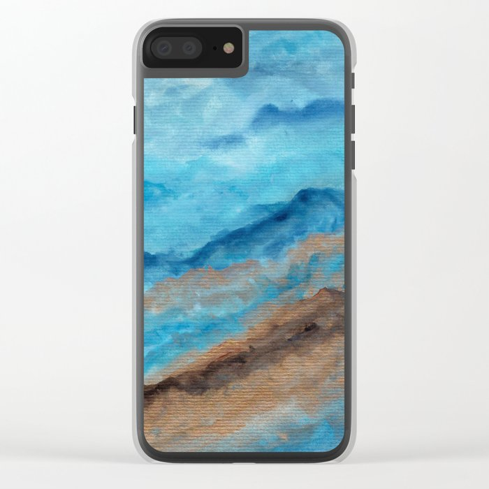 Watercolor abstract landscape 20 Clear iPhone Case