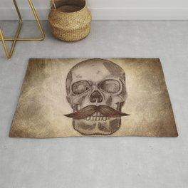 Skull Mustache Rug