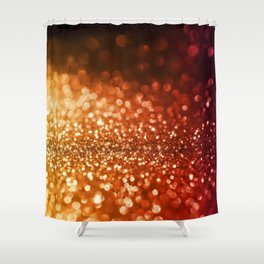 Fire and flames - Red and yellow glitter effect texture Shower Curtain