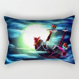 the sunny flaying Rectangular Pillow