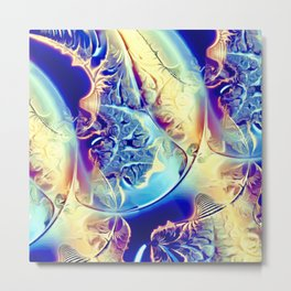 Etched Glass Abstract Metal Print