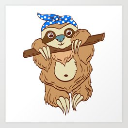 "For Animal Lovers Cute Sloth Shirt For Animal Lovers ""Sloth"" T-shirt Design Lazy Sleepy Art Print"