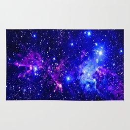 Fox Fur Nebula Galaxy blue purple Rug