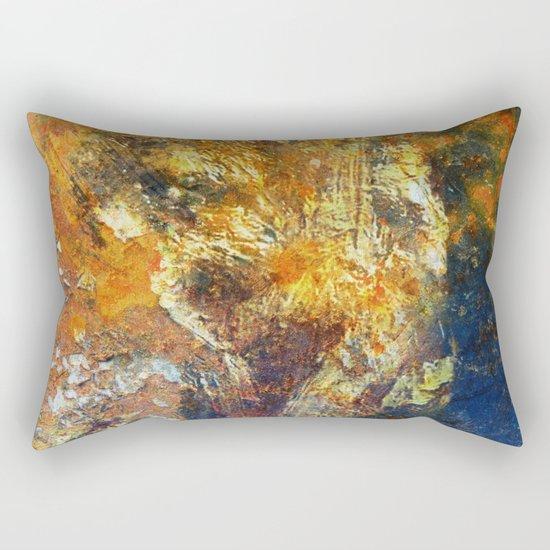 Yellow and Blue Wall Rectangular Pillow