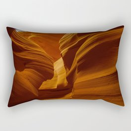 Girl Image in Antelope Canyon Rectangular Pillow