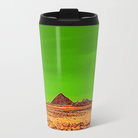 Orange Pyramid in Nevada? Metal Travel Mug