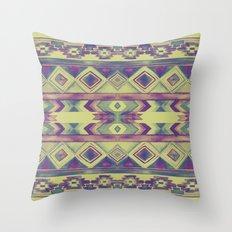Southwest Pattern - Lime, Purple & Blue Throw Pillow