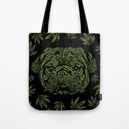 Marijuana of Pug Tote Bag