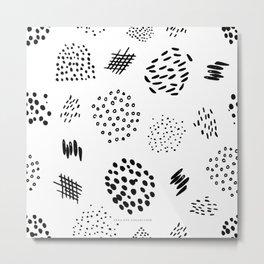 Abstract Markings Metal Print