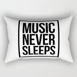 Music Never Sleeps Rectangular Pillow