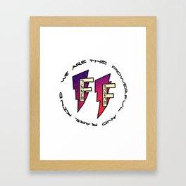 Fizzle Force Logo Framed Art Print