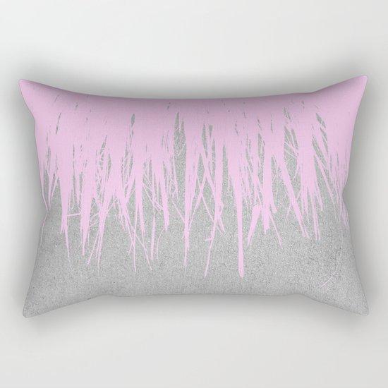 Concrete Fringe Blush Rectangular Pillow