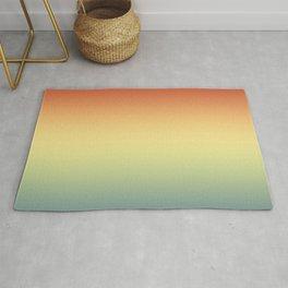 Aega - Colorful Classic Abstract Minimal Retro 70s Color Gradient Rug