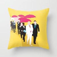 gatsby Throw Pillows featuring Gatsby by Fräulein Fisher