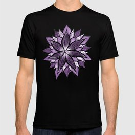 Purple Mandala Like Abstract Flower T-shirt