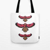 hawk Tote Bags featuring Hawk by Dexter Gornez