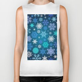 Snowflake pattern Biker Tank