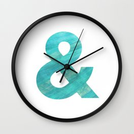 Watercolor Ampersand Wall Clock